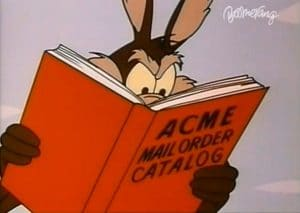 wile e coyote acme products catalog