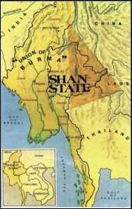 SHAN STATE map
