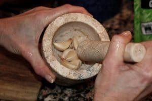 aglio schiacciato